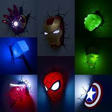 marvel the avengers figure wall l iron man spiderman hulk captain america hero children night