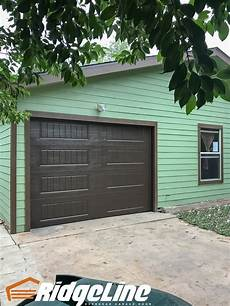 9 X 7 Overhead Garage Doors by 10x7 Amarr Oak Summit 1000 Panel Brown