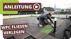 Wpc Fliesen Mit Klick Kunststoffrasen Auf Einer Terrasse