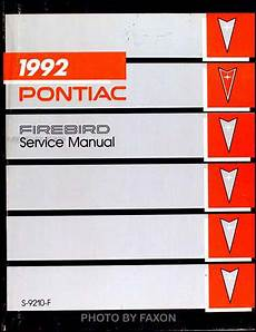 car repair manual download 1992 pontiac firebird lane departure warning 1992 pontiac firebird and trans am repair shop manual original