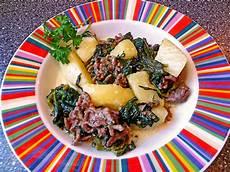 Kartoffel Hack Pfanne - kartoffel hack spinat pfanne mit curry rezept mit