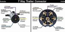 trailer and vehicle side 7 way wiring diagrams etrailer com