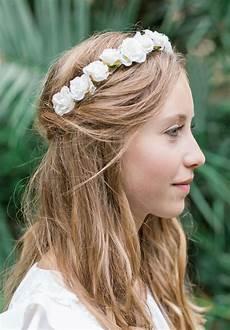 Headband Enfant De Fleurs Roses Pour Mariage