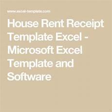 house rent receipt template excel receipt template