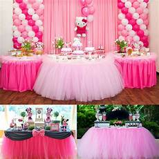 customized 100cm tutu tableware tulle table skirt party wedding decorations ebay