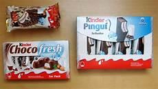 Kinder Pingui Vs Kinder Maxi King Vs Kinder Choco