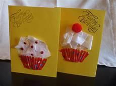 karte geburtstag basteln cupcake birthday cards my kid craft