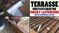 terrasse bois sur plot beton terrasse en bois composite sur plot en b 233 ton arm 233 partie 3