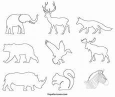 Kostenlose Malvorlagen Tiere Silhouette Wildlife Animals Silhouette Stencil Printable Template