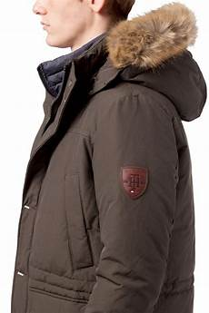 hilfiger houston parka in green for lyst