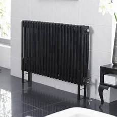Radiateur Horizontal Style Fonte Noir 60cm X 101