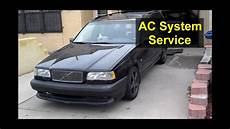 automobile air conditioning service 1999 volvo v70 electronic valve timing basic ac service volvo 850 s70 v70 xc70 auto repair series youtube