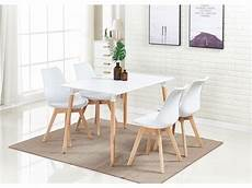 Ensemble Salle 224 Manger Moderne Lorenzo Table Blanche