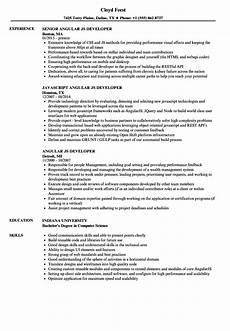 angular js developer resume sles velvet