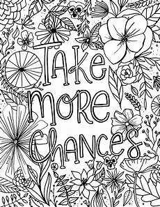 free encouragement flower coloring page printable fox hazel