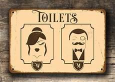 Wc Schild Vintage - vintage toilet sign deco toilet sign toilet door