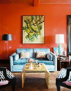 Orange Living Room Ideas