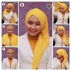 Model Jilbab Pasmina Terbaru Panjang Pesta Kaos Satin