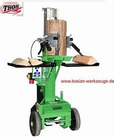 holzspalter 230 volt kosian werkzeuge thor holzspalter alpino 8 5 ton 230