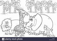Bilder Zum Ausmalen Zoo Afrikanische Tiere Zum Ausmalen Stockfotografie Alamy