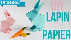 comment faire un origami origami comment faire un lapin en papier