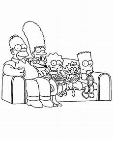 coloring to print characters the simpsons