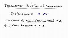 complex numbers polar form pdf the polar form of complex numbers youtube