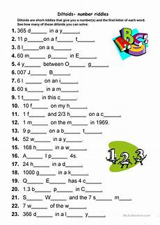 diltoids number letter puzzles worksheet free esl printable worksheets made by teachers