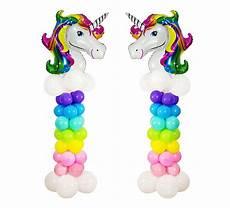 why don t we unicorns today this ballsy how to create diy unicorn balloon column stand unicorn