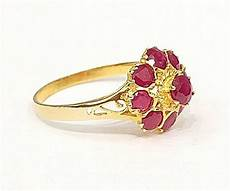 14k solid yellow gold ruby princess ring from thailand size 5 9 5 b4 ebay
