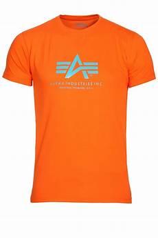 alpha industries basic t shirt orange buy alpha