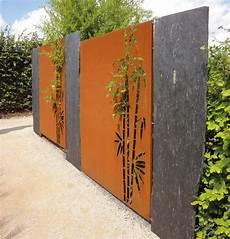paras corten sichtschutz bambus
