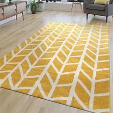 Teppich Wohnzimmer Modern Muster Kurzflor Streifen Design