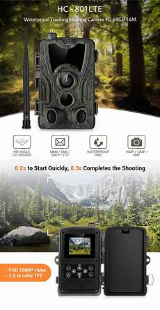 801lte 16mp 1080p Waterproof Smtp by Hc 801lte 4g 16mp 1080p Hd Wildlife Track Trail
