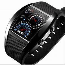 Sports Car Watches by 2016 New Fashion Luxury Fan Shaped Led Sports Watches