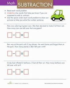 simple subtraction word problems worksheet education com