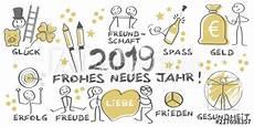 quot 2019 frohes neues jahr illustrierte gru 223 karte mit