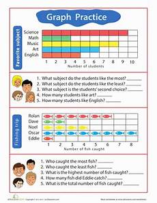 practice test bar graphs and pictograms worksheet