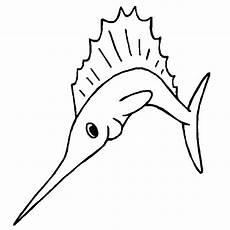 Gambar Mewarnai Ikan Moncong Panjang Ikan Layar Contoh