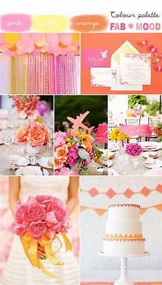 pink orange yellow wedding summer wedding colors