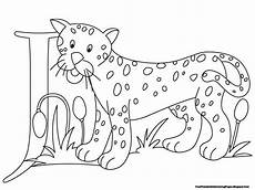 jaguar alphabet coloring pages printable free printable