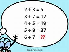 brain teaser number and math puzzle number puzzle with