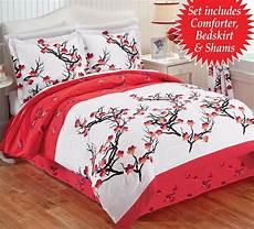 cherry blossom comforter pillow shams bed king queen 4 pc bedding ebay