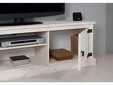 Meuble Tv 160 2 Cm Saraya Coloris Blanc Vieilli Vente De