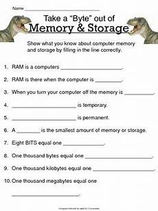 computer memory worksheet computer memory storage study guide worksheet by jen