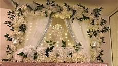 diy chandelier floral backdrop in multiple color style