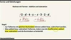 terme und gleichungen rechnen mit termen ii addition