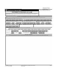 va form 21 4138 download fillable pdf statement in