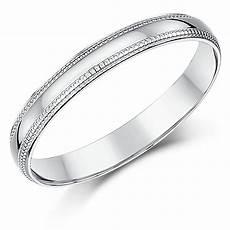 3mm palladium milgrain edge wedding ring band palladium 950 at elma uk jewellery