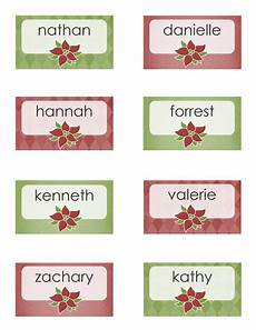 place cards poinsettia design 8 per page